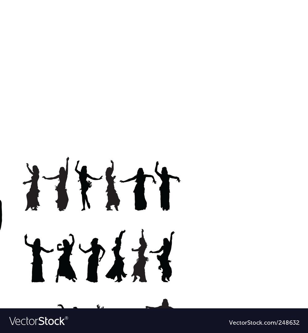 Hula dancers vector image