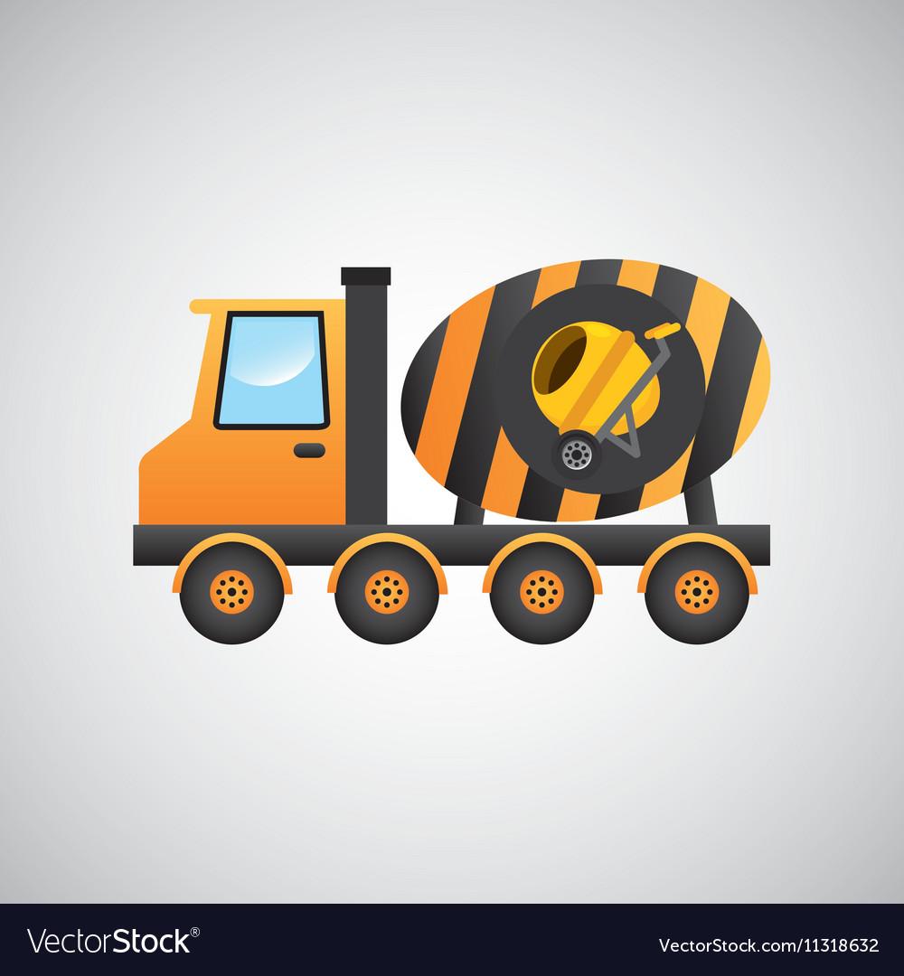 Truck mixer concrete icon graphic vector image
