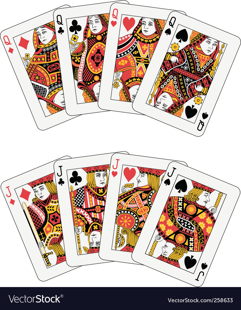 Poker jack and queen vector image