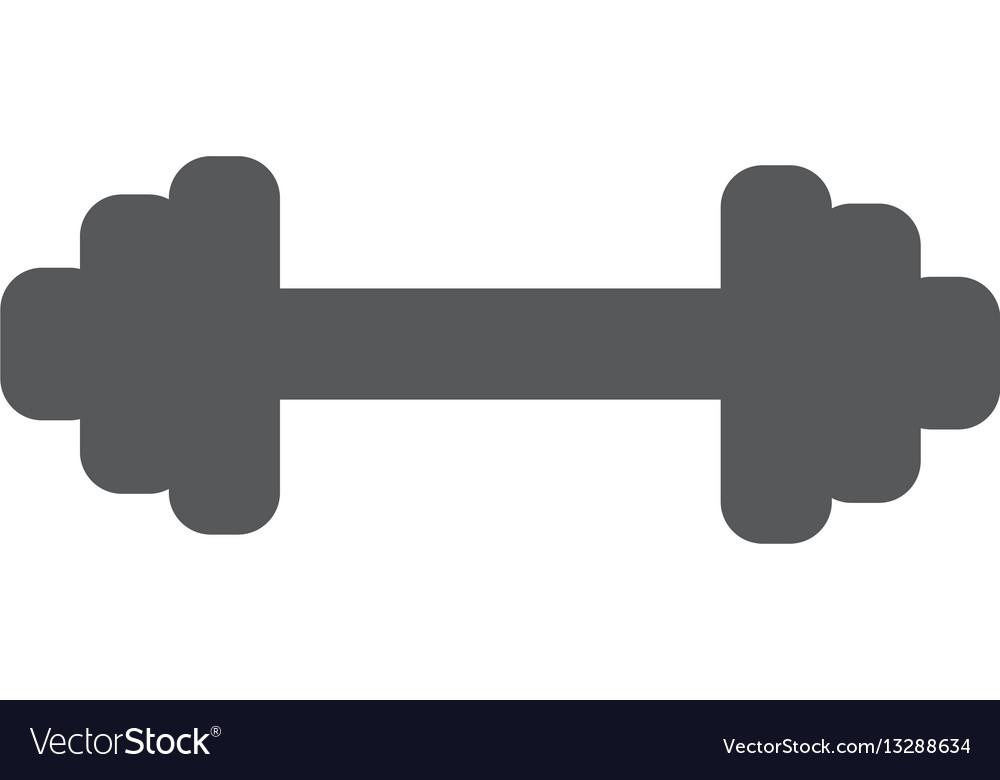 Dumbbells object flat icon isolated on white vector image