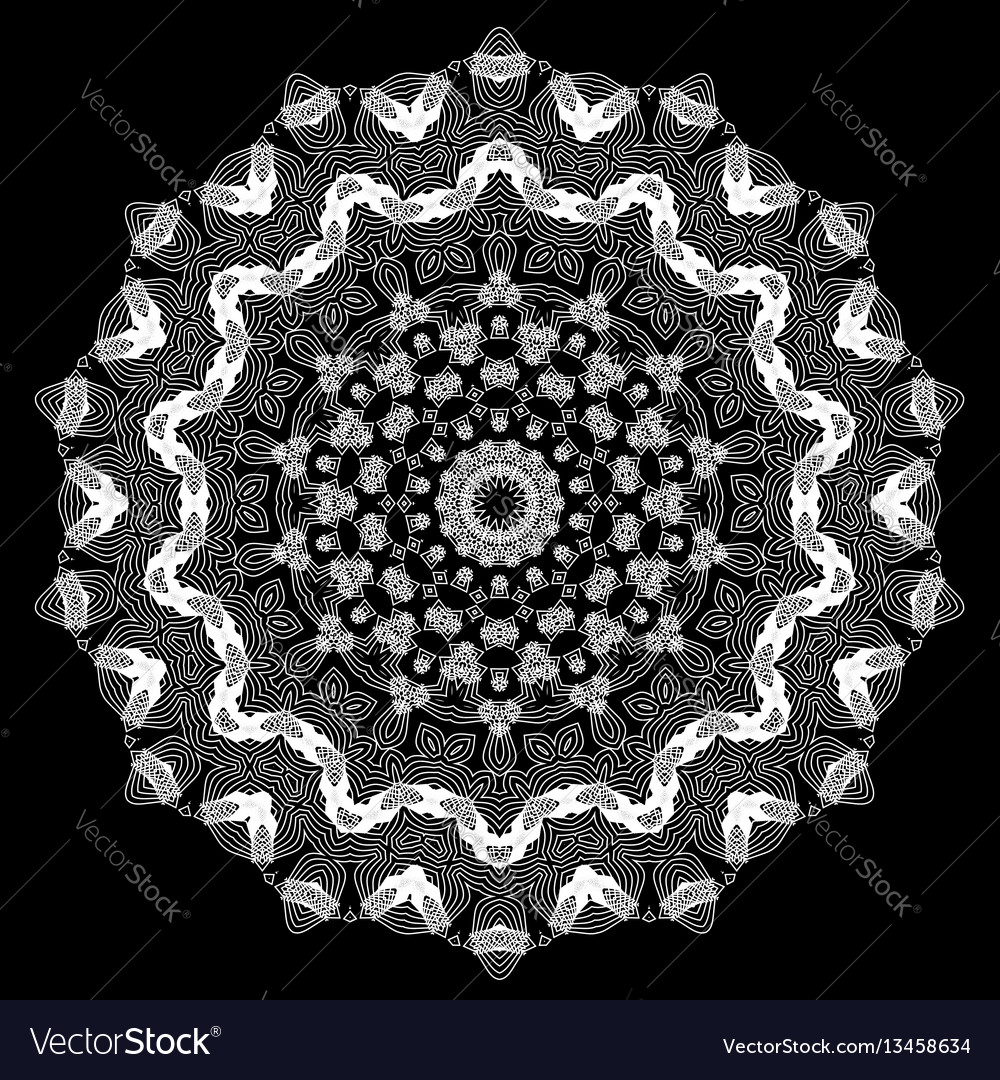 Ornamental line pattern vector image
