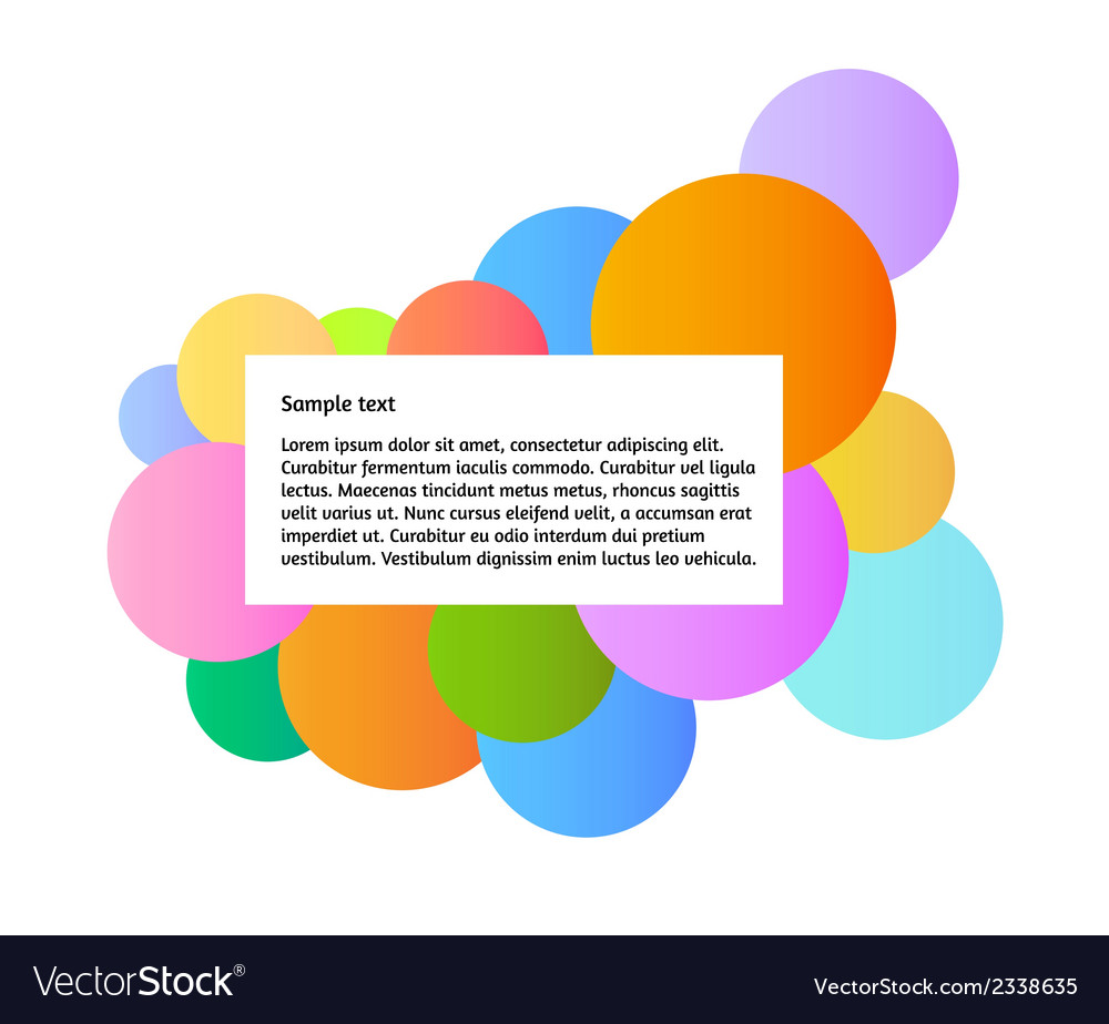 Color graphic with information box vector image
