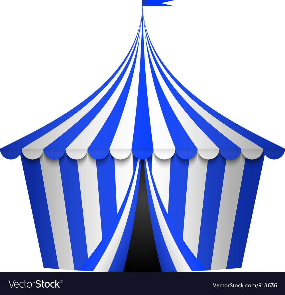 Blue circus tent vector image  sc 1 st  VectorStock & Blue circus tent Royalty Free Vector Image - VectorStock