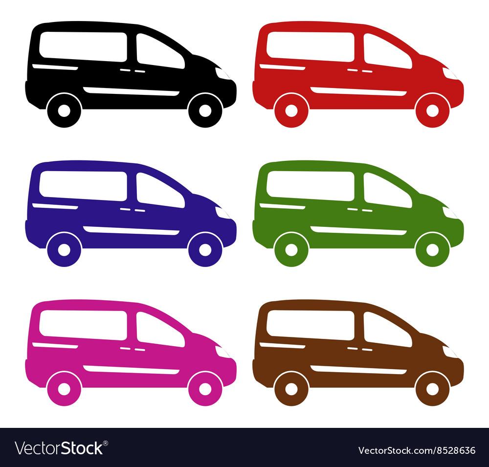 Van on white background vector image