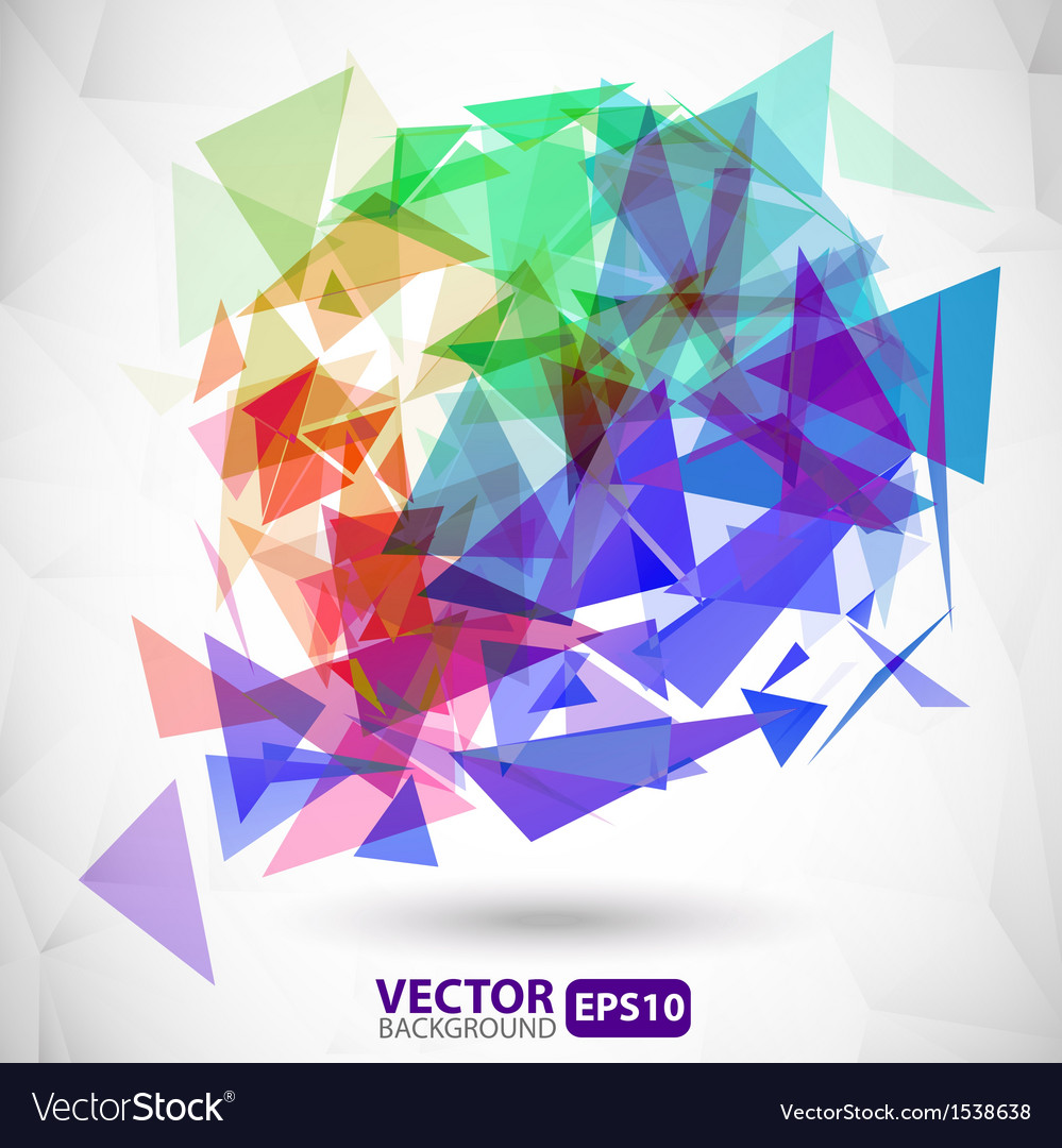 Abstract colorful background with explosion Vector Image