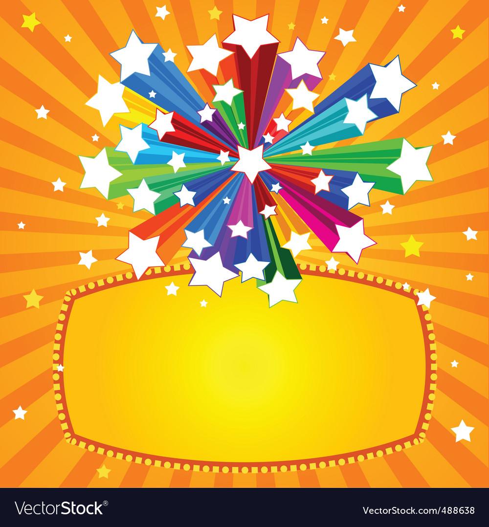 rainbow star banner royalty free vector image vectorstock