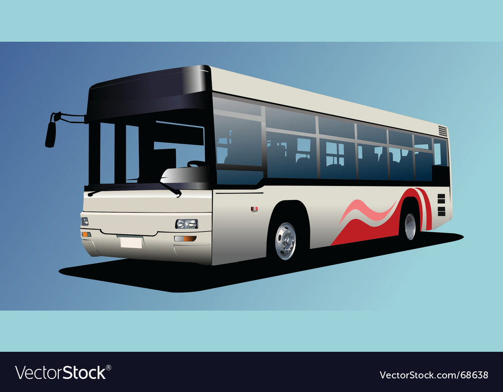 Town bus vector image