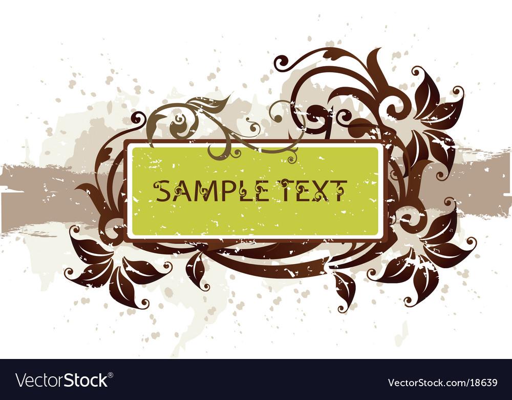 Floral grunge banner vector image