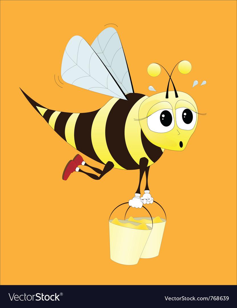 Hard working bee vector image