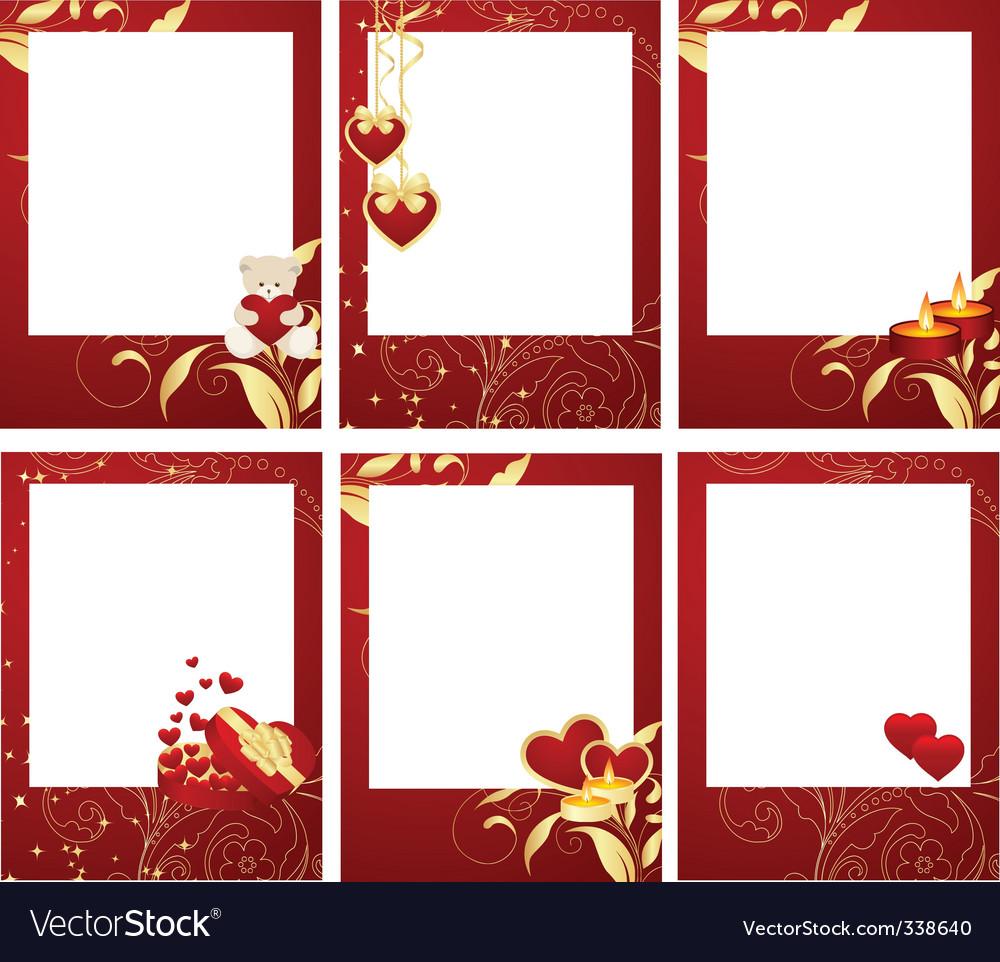 valentines frames vector image - Valentines Picture Frames