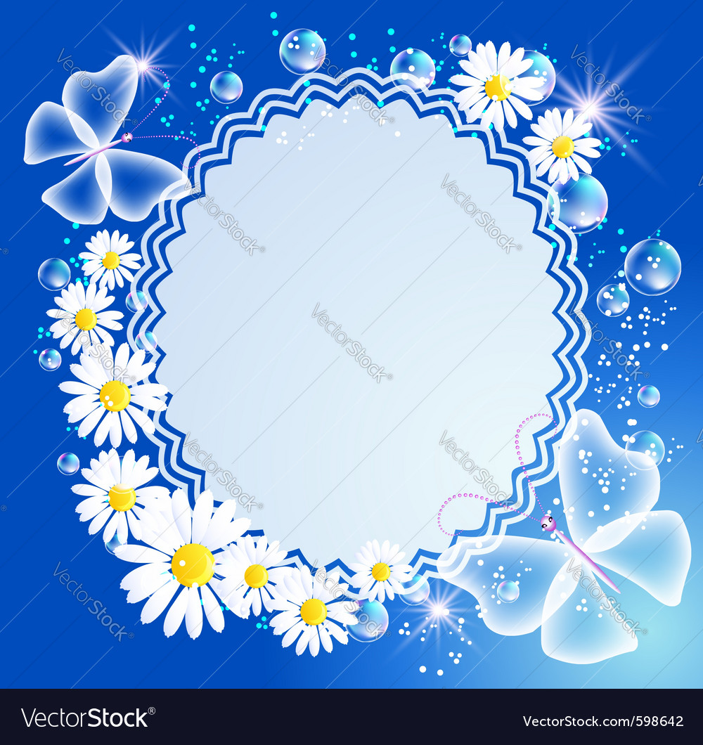butterfly frame vector image