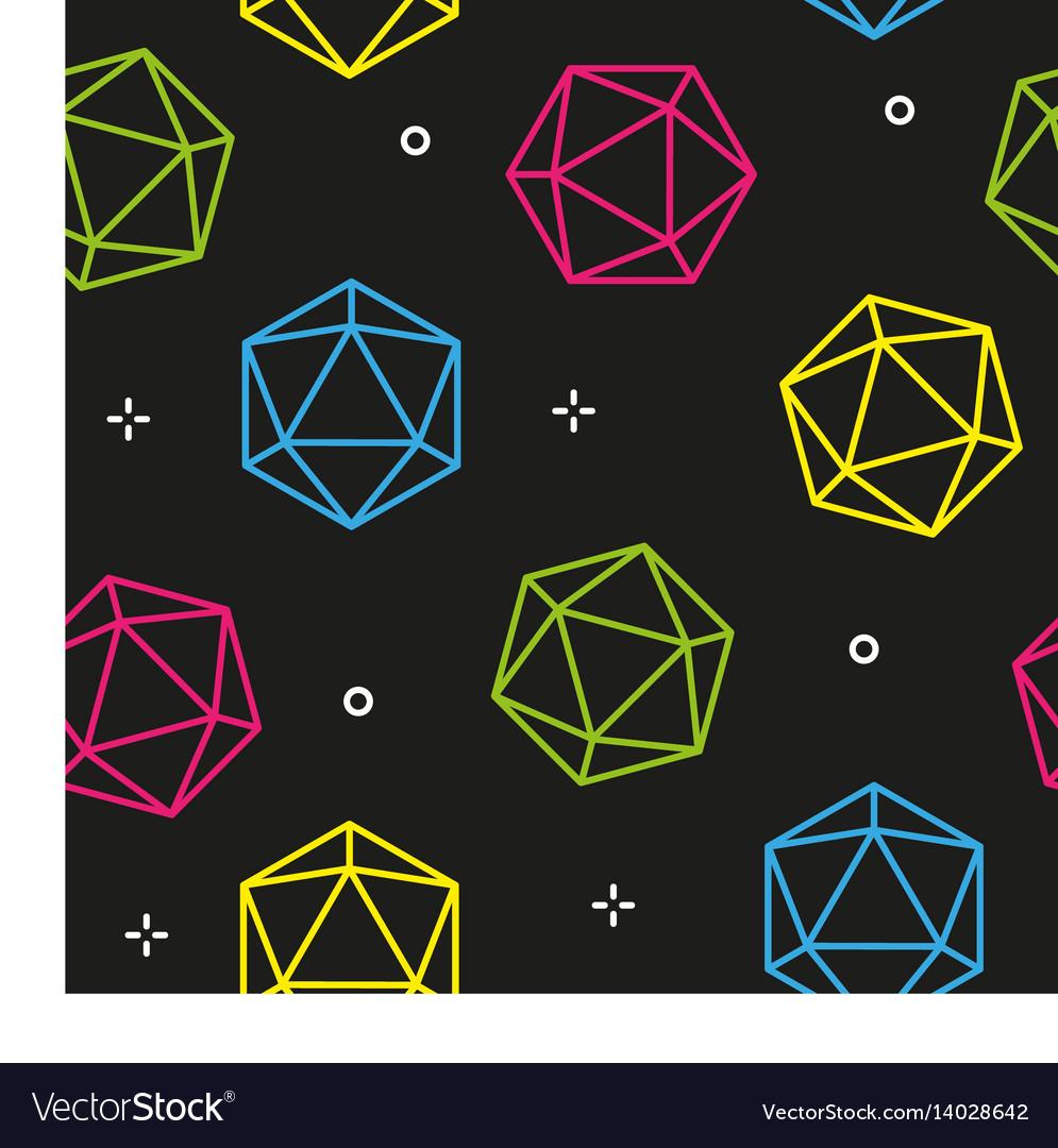 Colorful line hexagon diamonds seamless pattern vector image