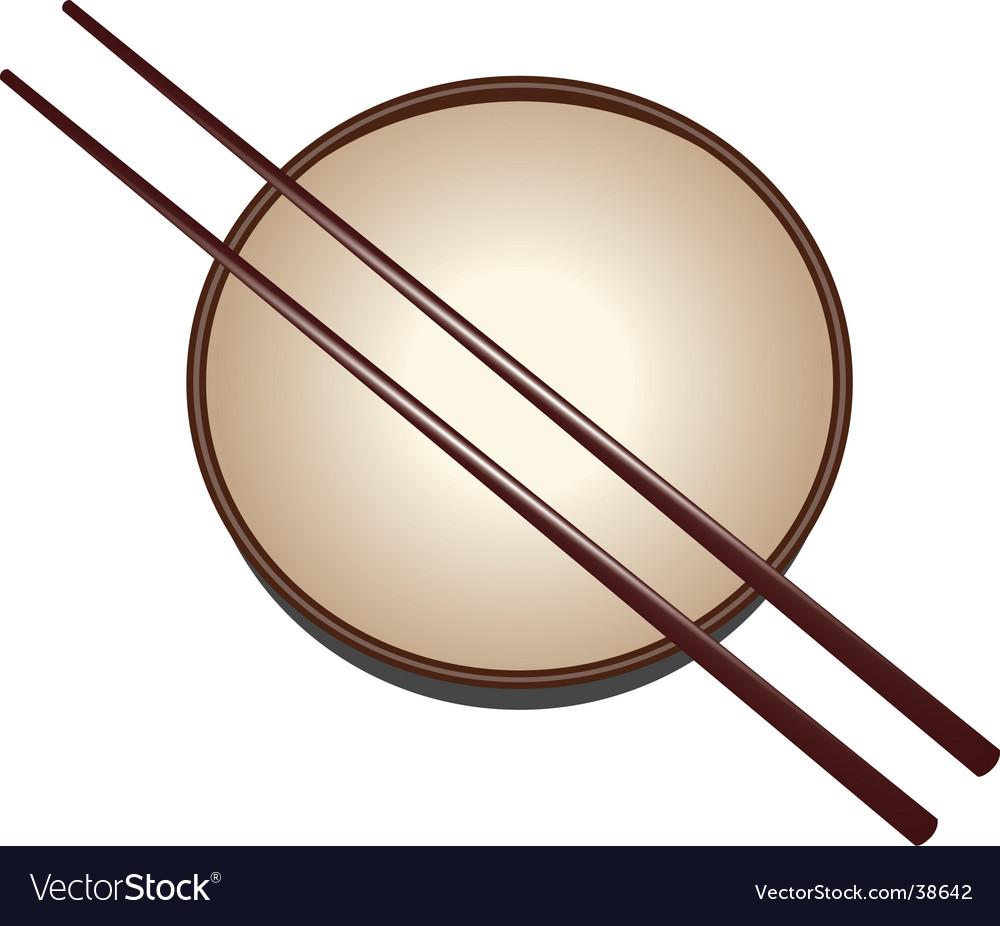 Japanese bowl vector image