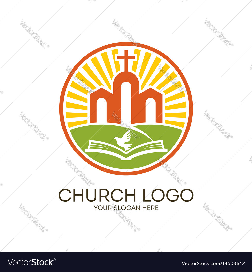 The church of jesus the bible and the holy spirit vector image