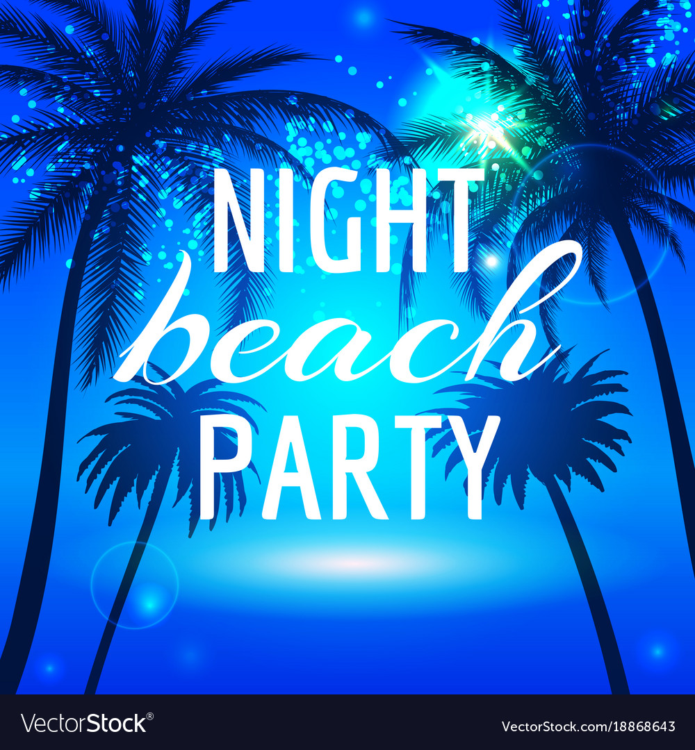 Summer background with palms vector image