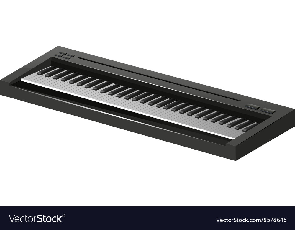 Electric piano on white background vector image