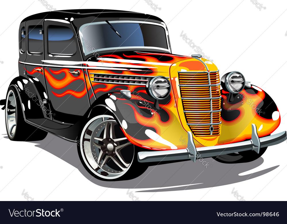 Retro hotrod vector image