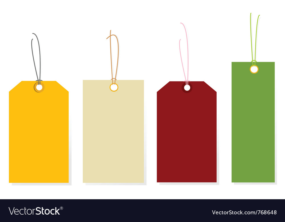 Colorful tags vector image