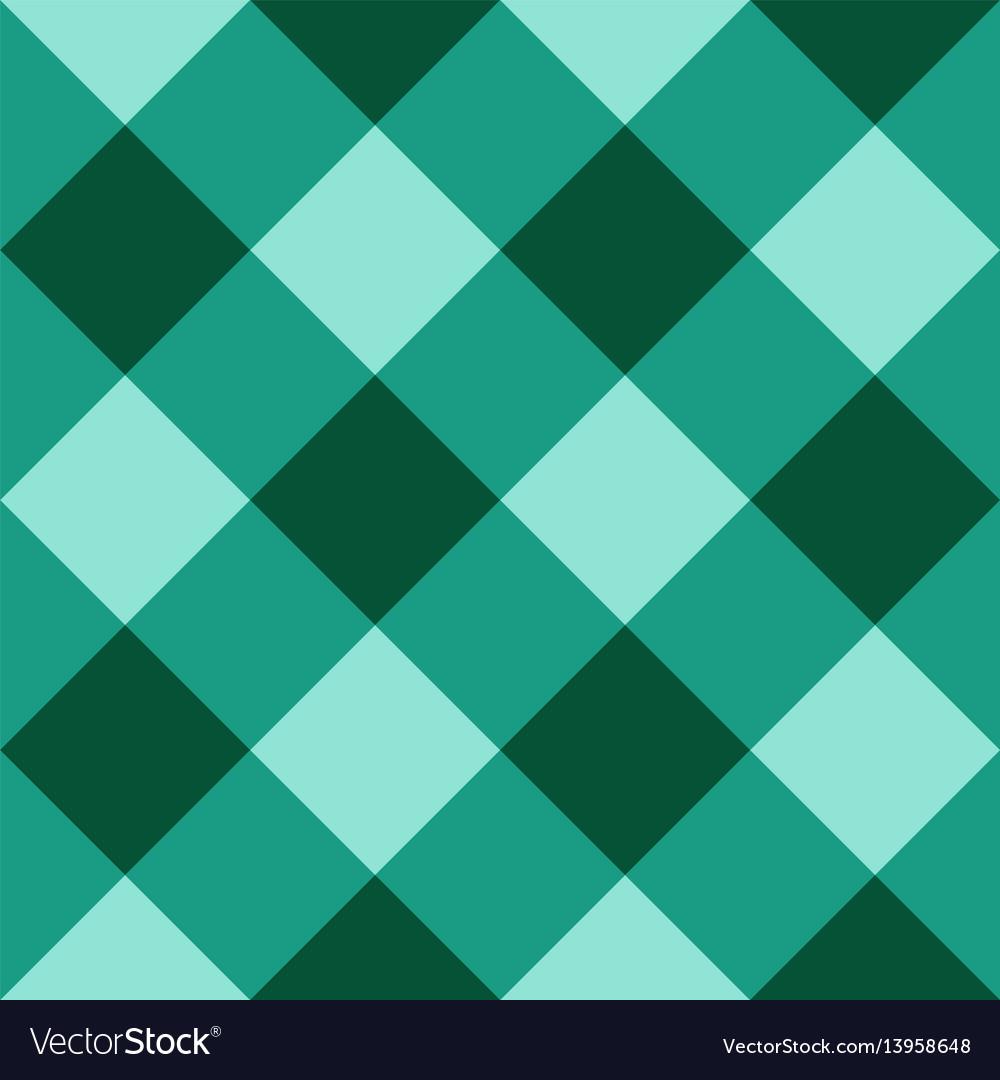 Green checkered diagonal seamless background vector image