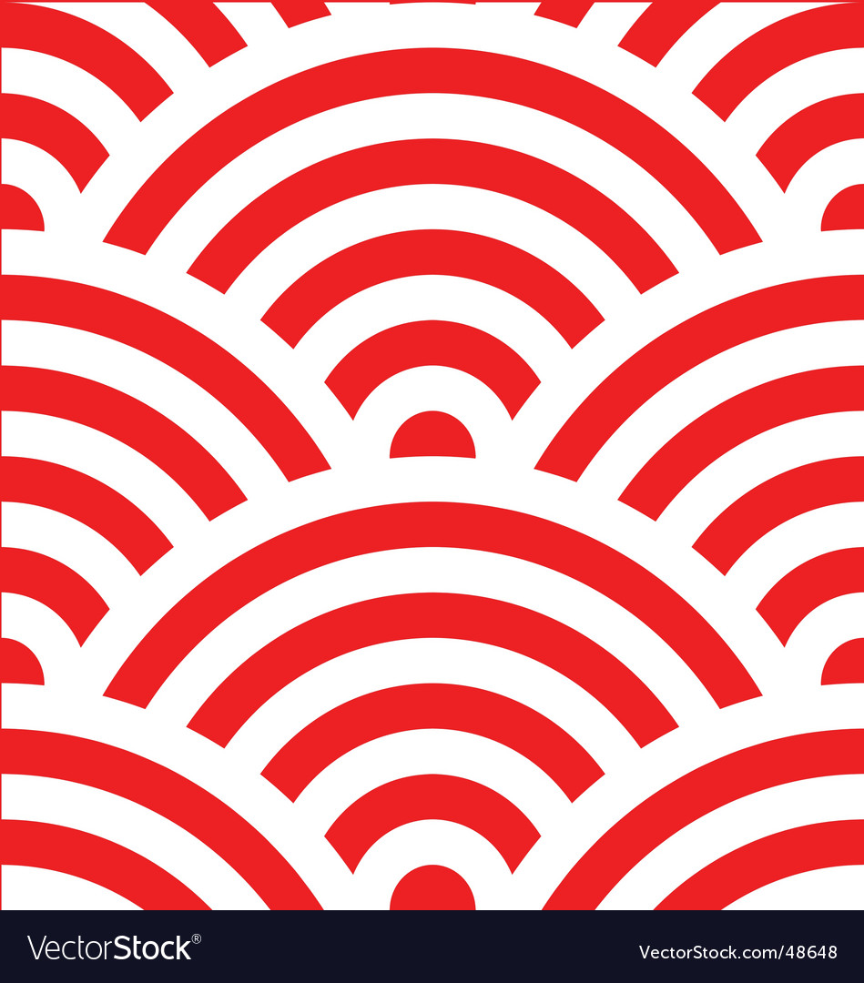 Wave pattern japanese vector image
