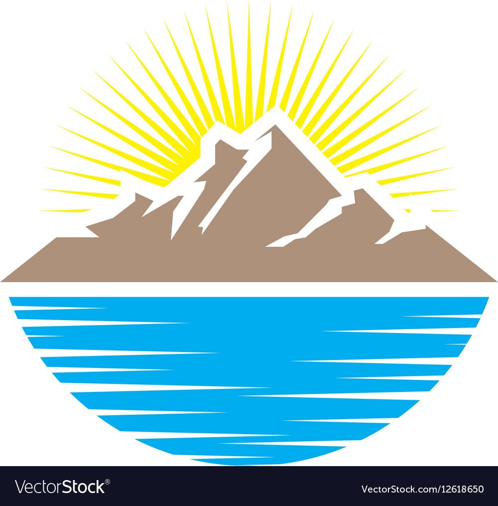 Mountain summer vector image