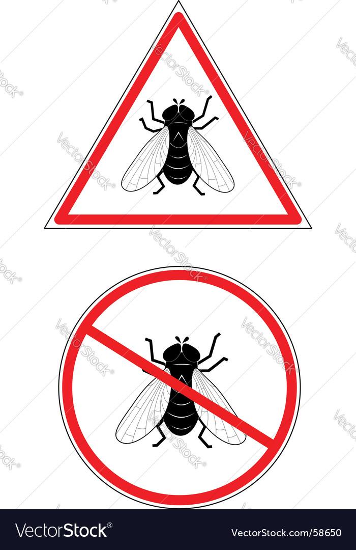 No fly's vector image