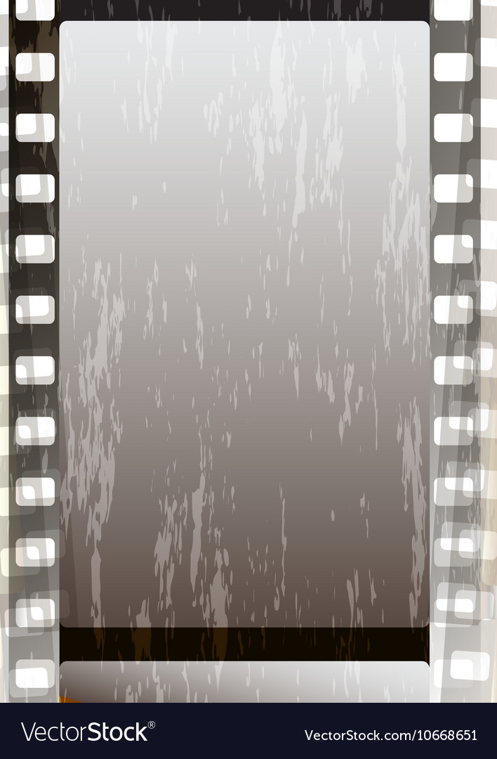 Grunge grey fragmentary film strips vector image