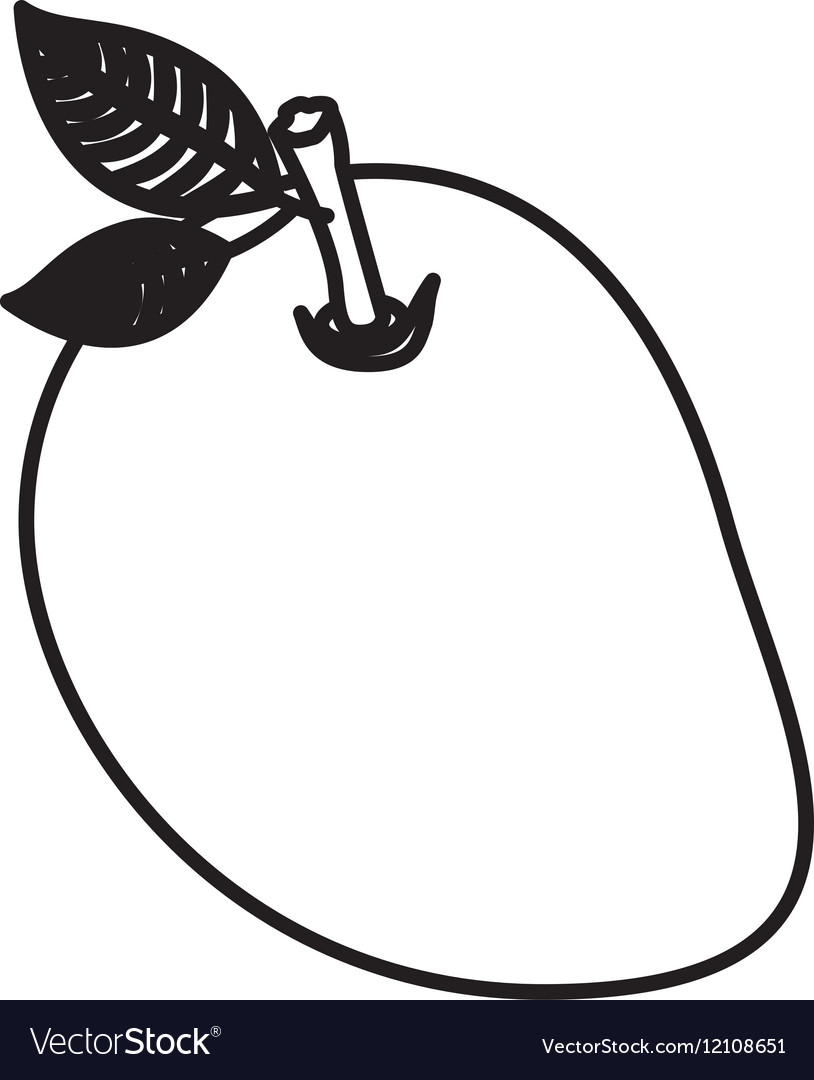 35  Beauty Clipart Mango Black And for Clipart Mango Black And White  26bof
