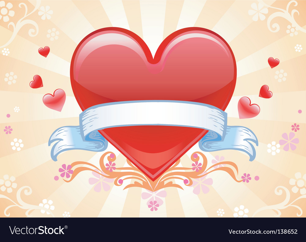 Val card heart vector image