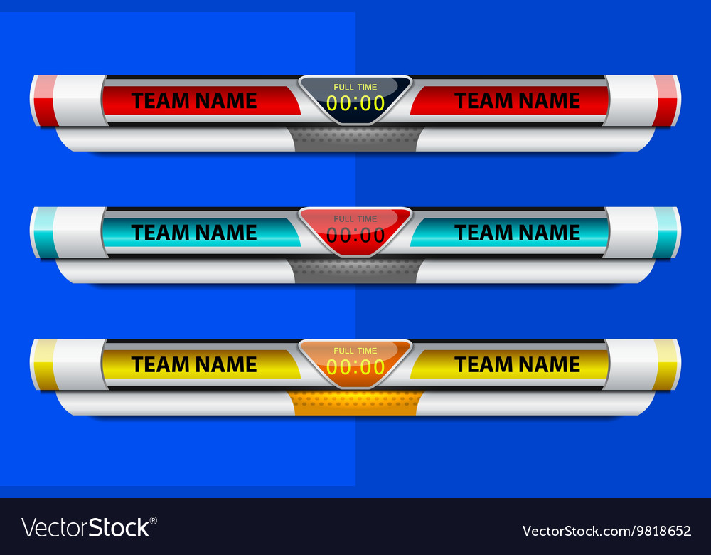 Template Scoreboard Design Royalty Free Vector Image