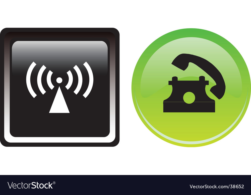 Two communication buttons vector image