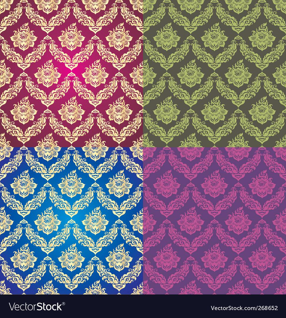 Vegetative background set vector image