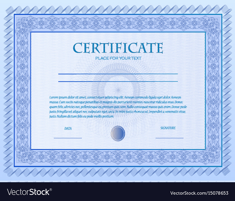 A custom certificate template with guilloche vector image a custom certificate template with guilloche vector image 1betcityfo Gallery