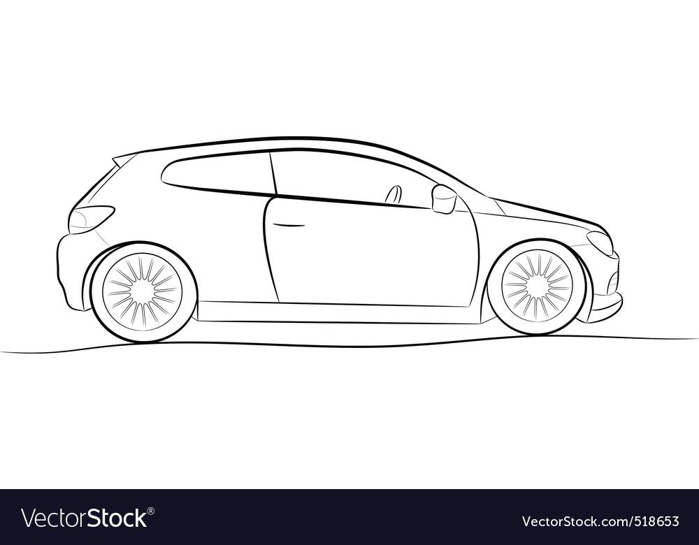 Car sketch Royalty Free Vector Image - VectorStock