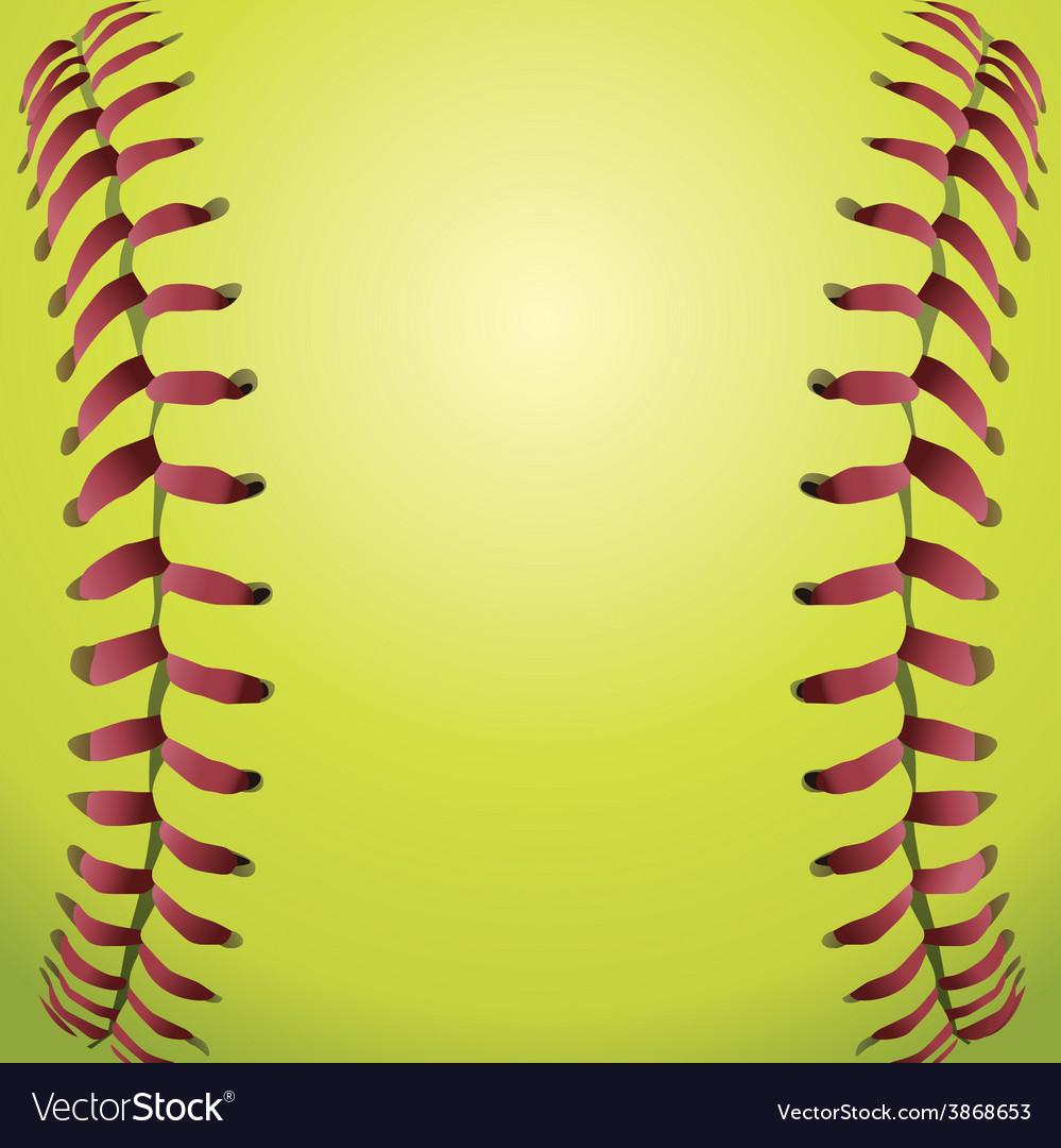 Closeup of a Softball vector image