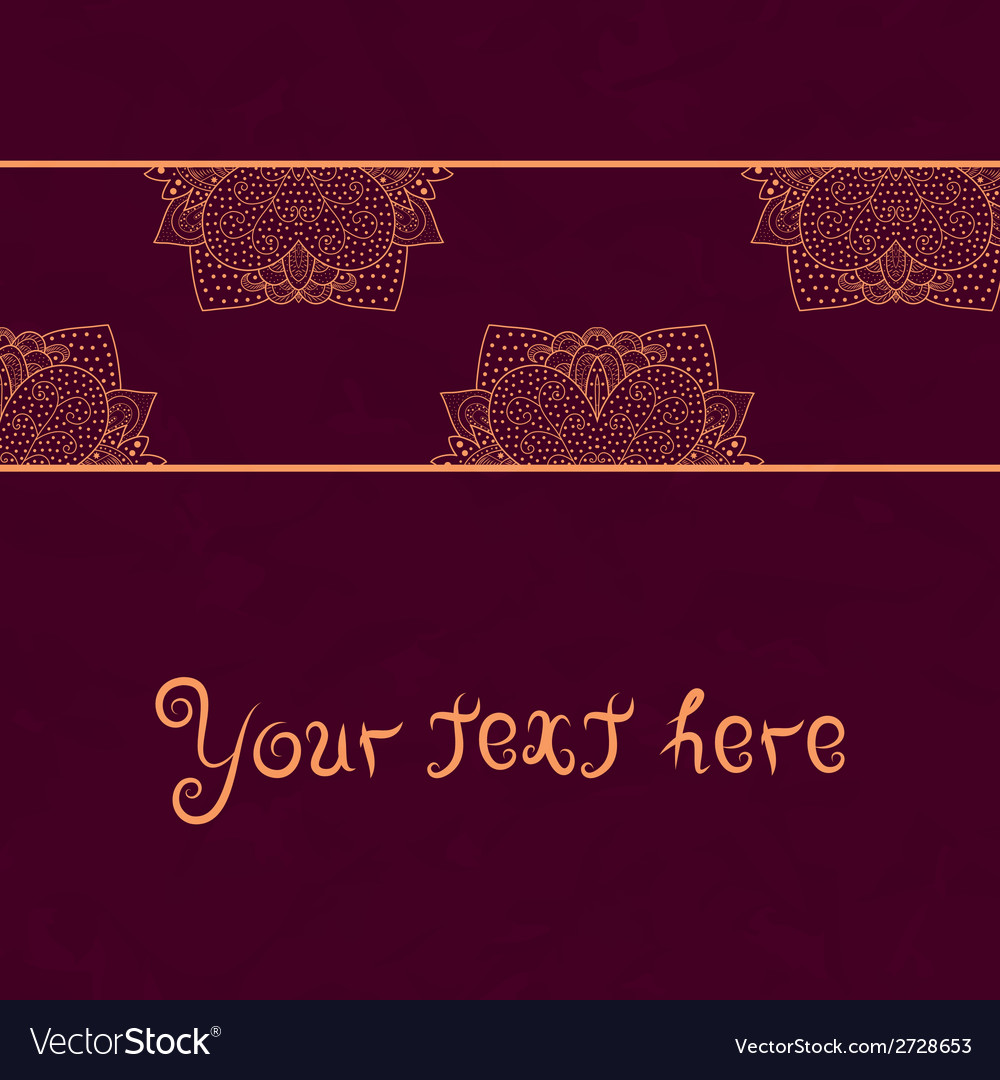 Vintage invitation card on red grunge background vector image stopboris Image collections