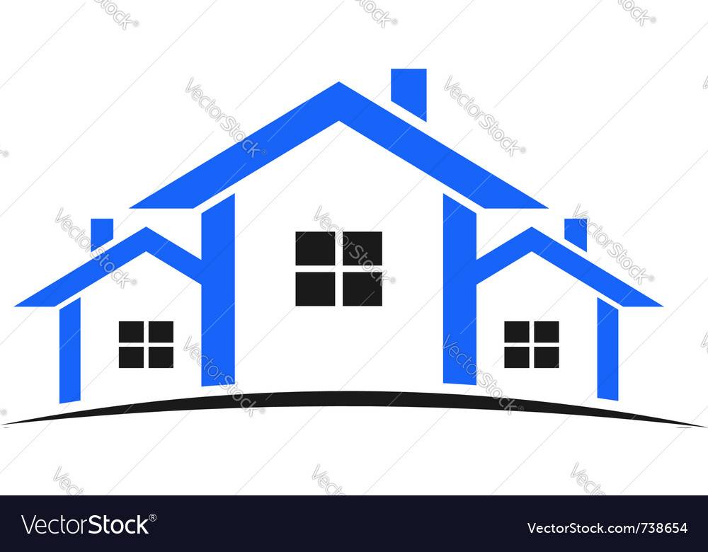 Houses real estate vector image