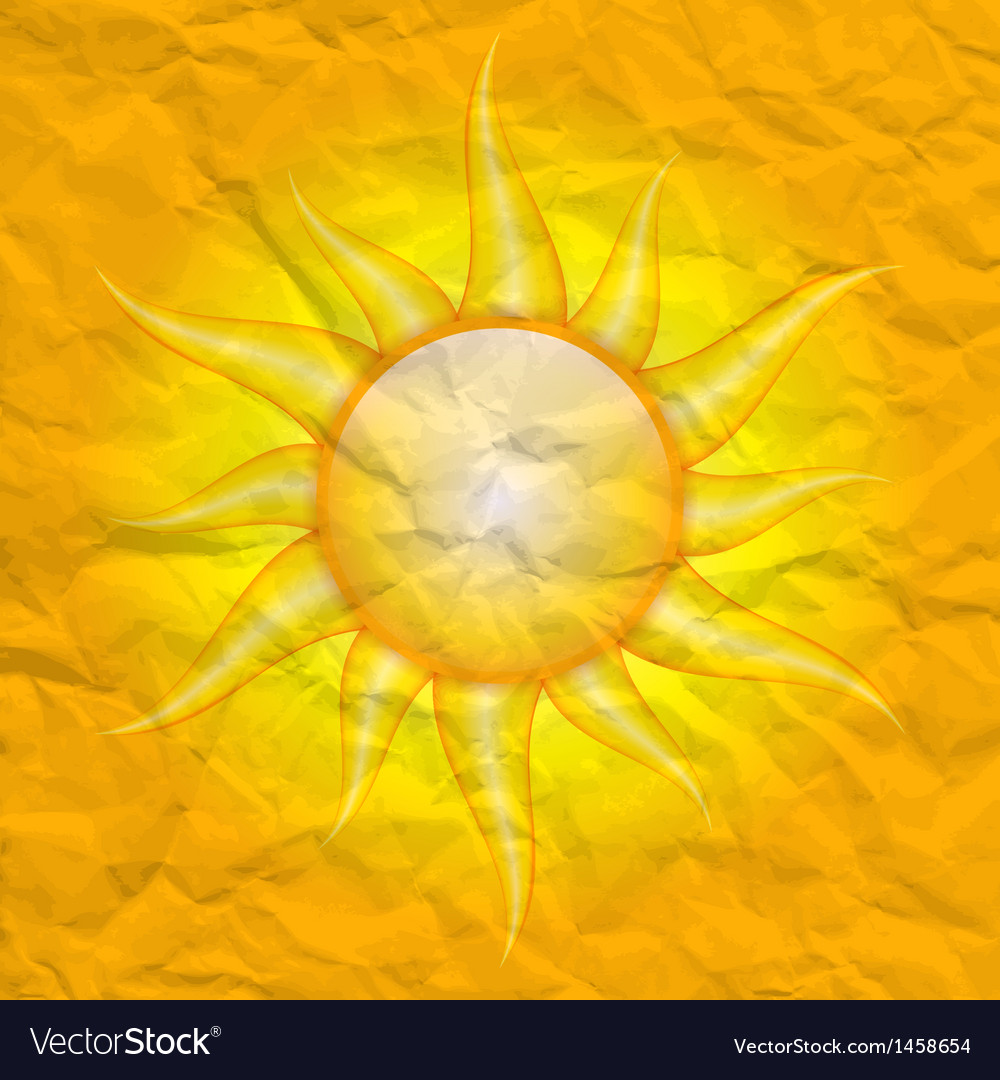 Damage by the sun vector image