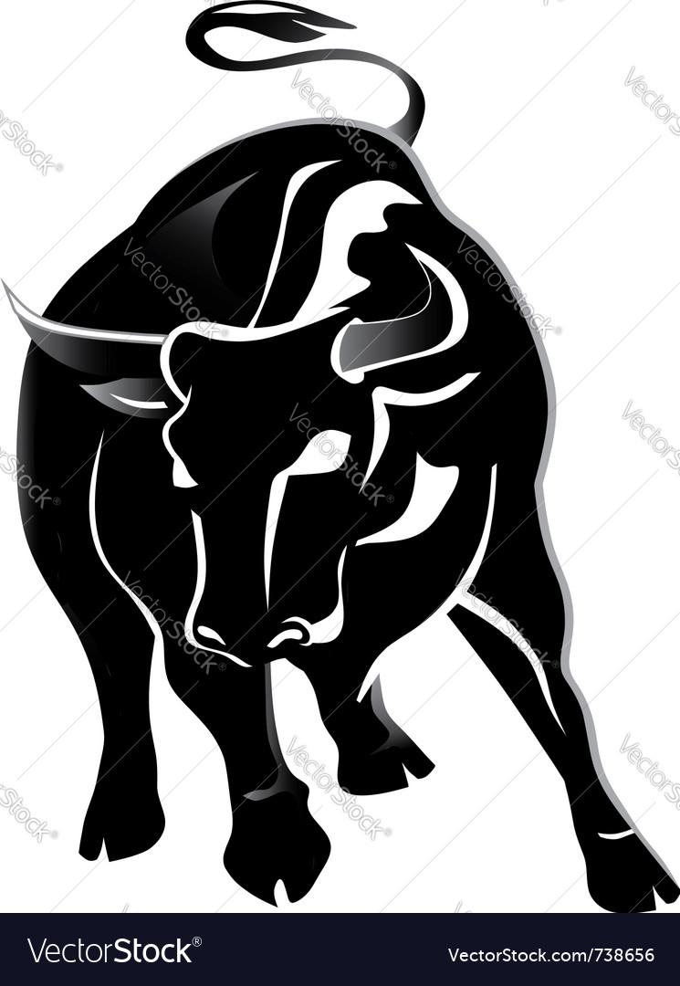 Black bull Vector Image
