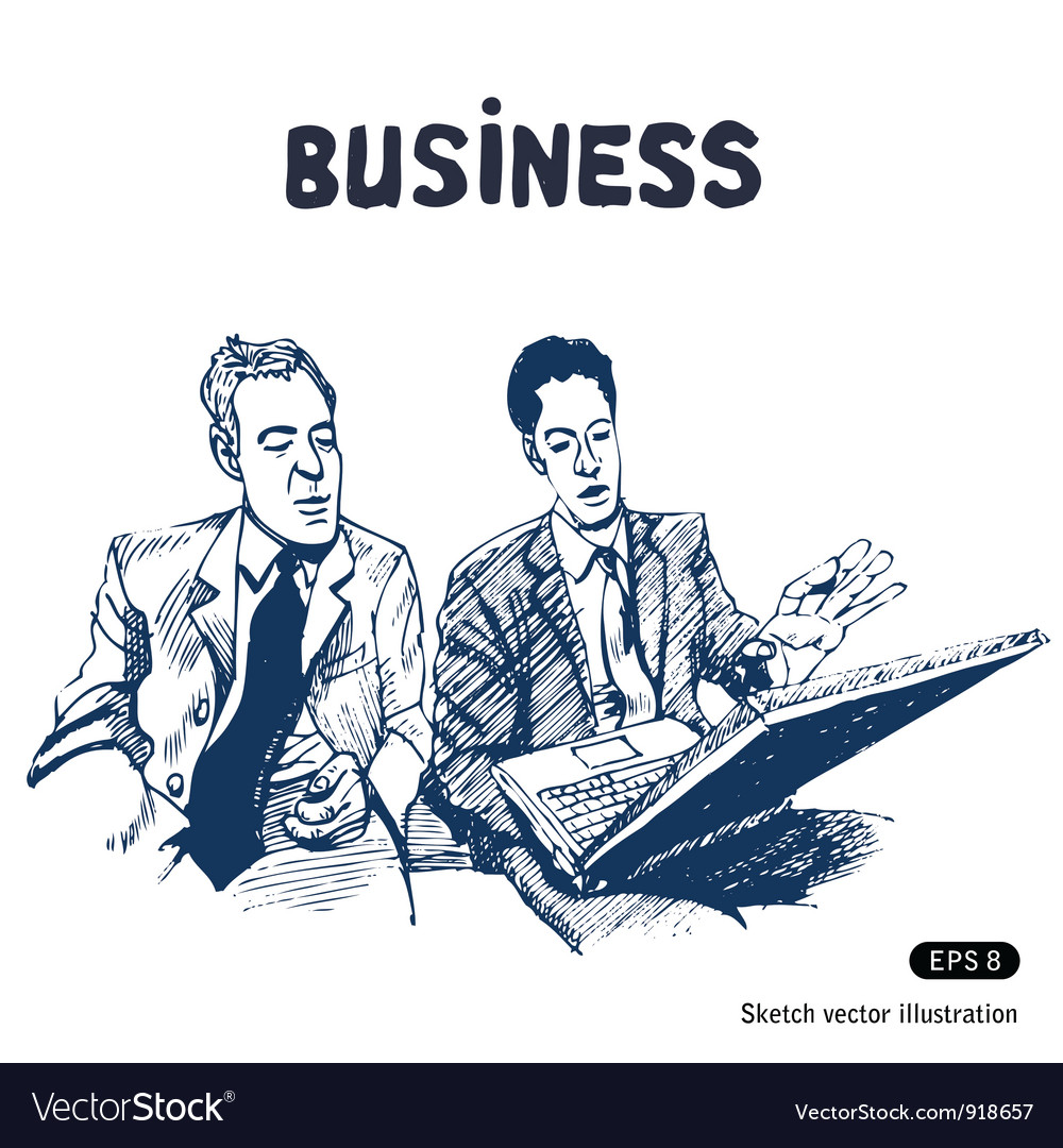 Business discussion vector image
