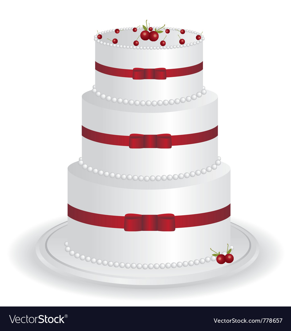 White cake vector image