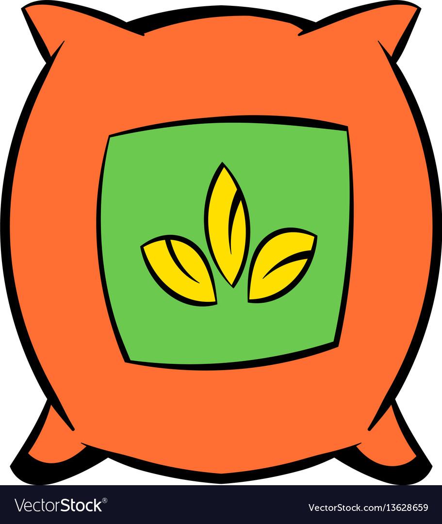 Seeds bag icon cartoon vector image