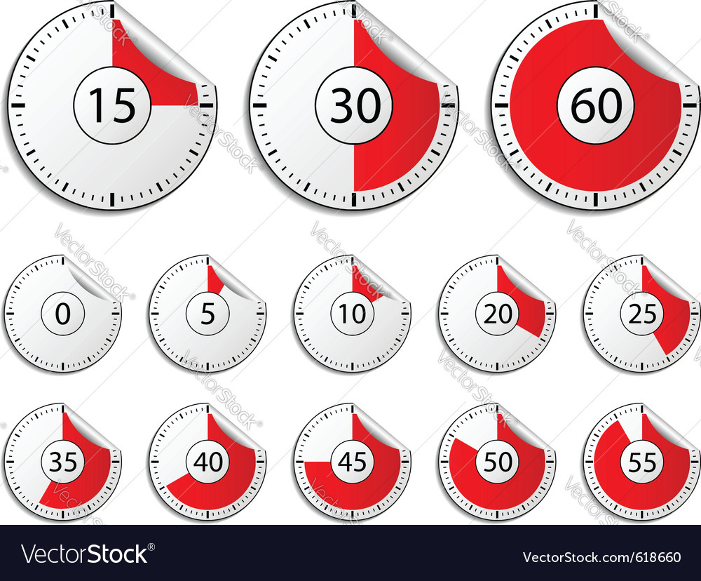Timer stickers vector image