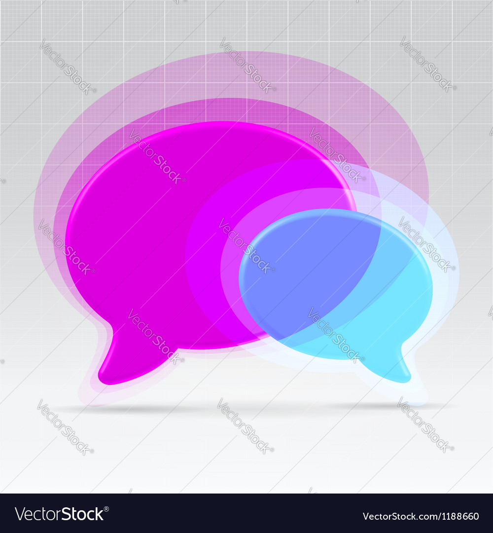 Balloons communication concept vector image