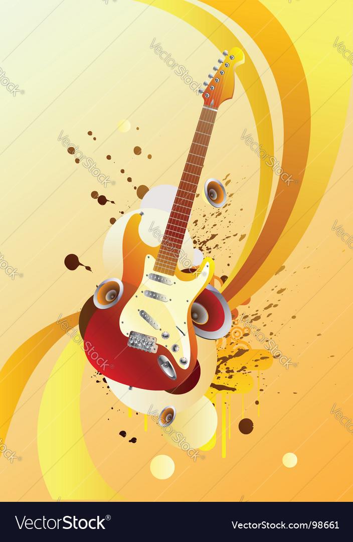 Magic guitar vector image
