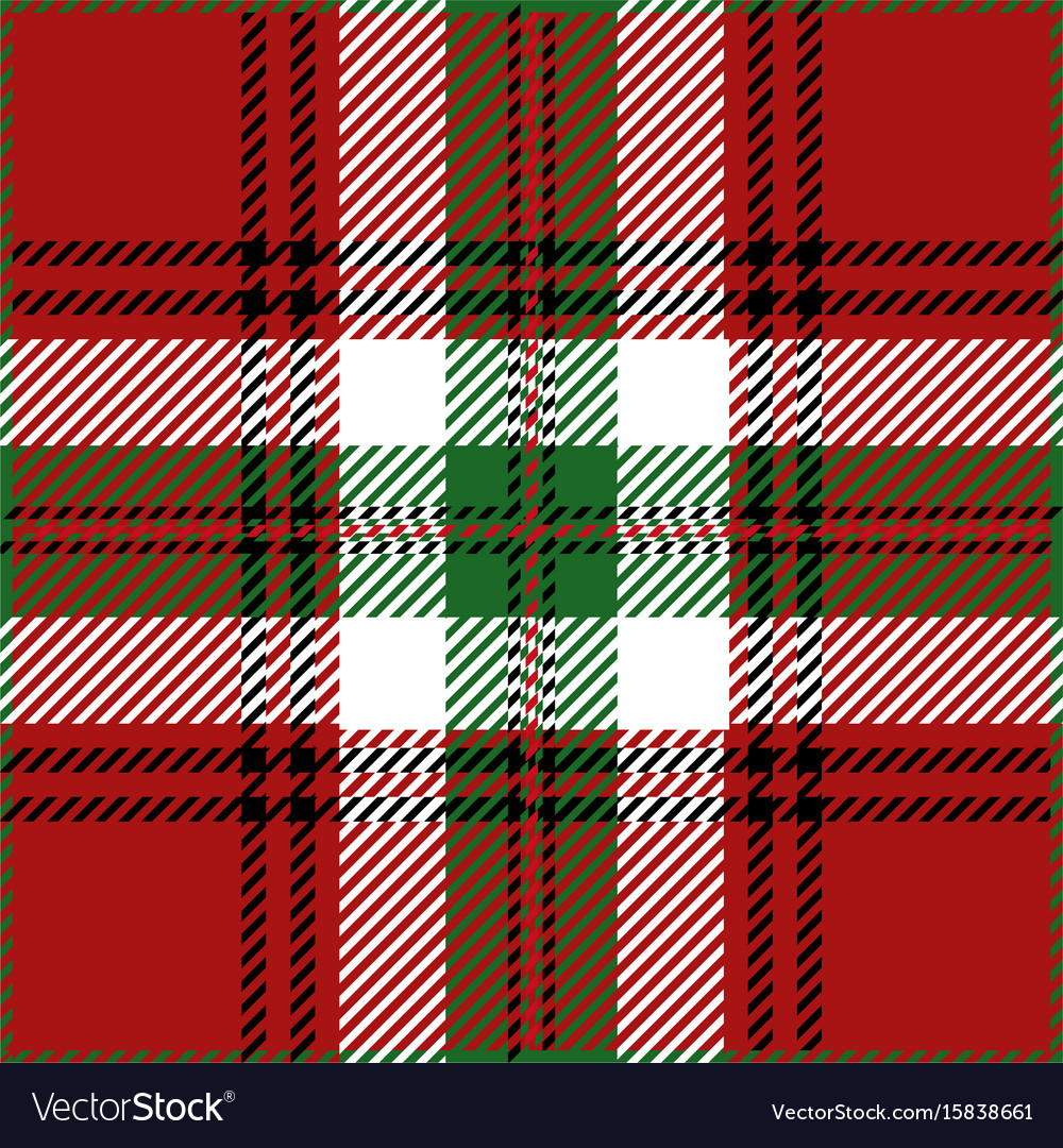 Christmas tartan plaid pattern vector image
