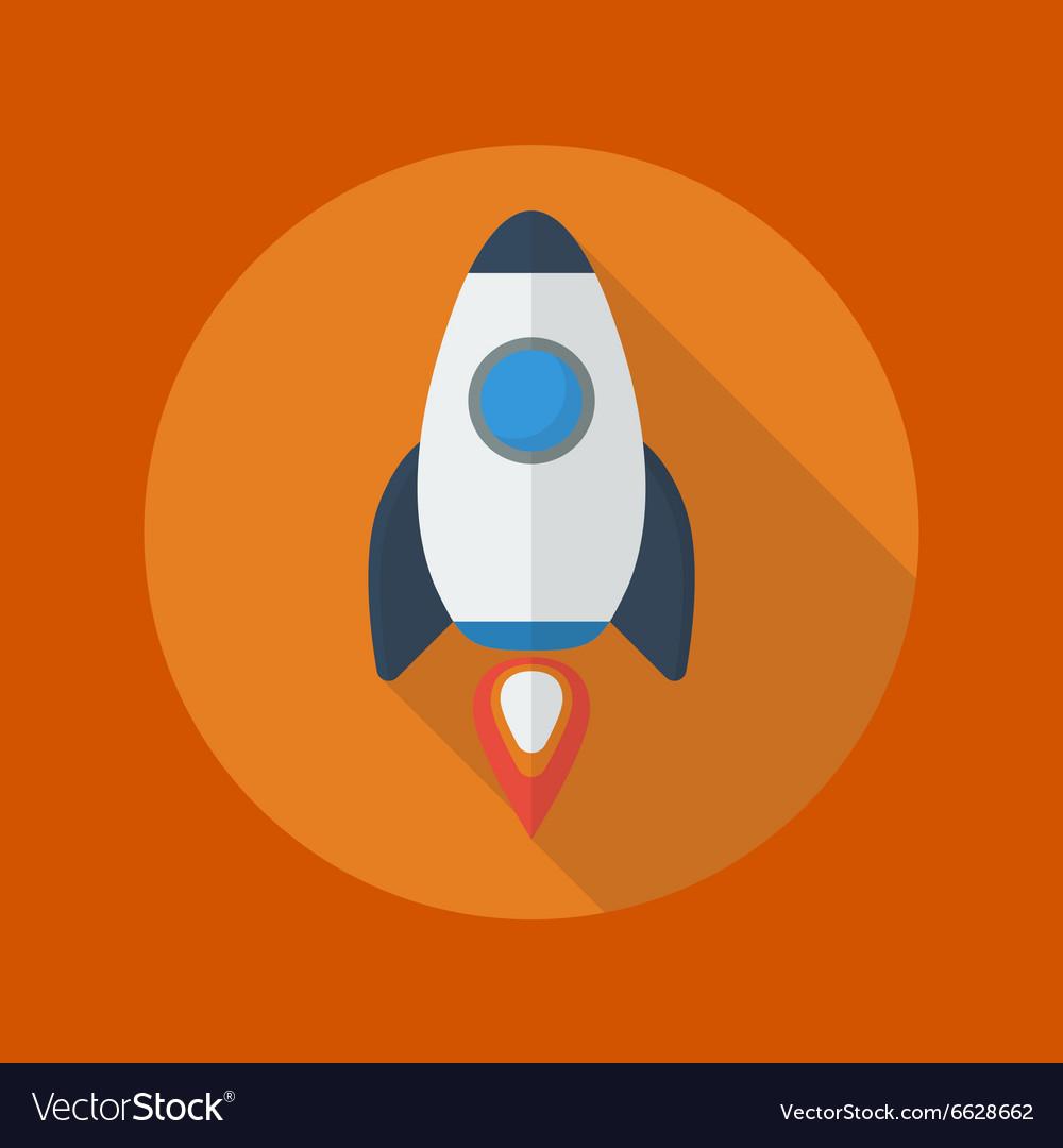 Transportation Flat Icon Spaceship vector image
