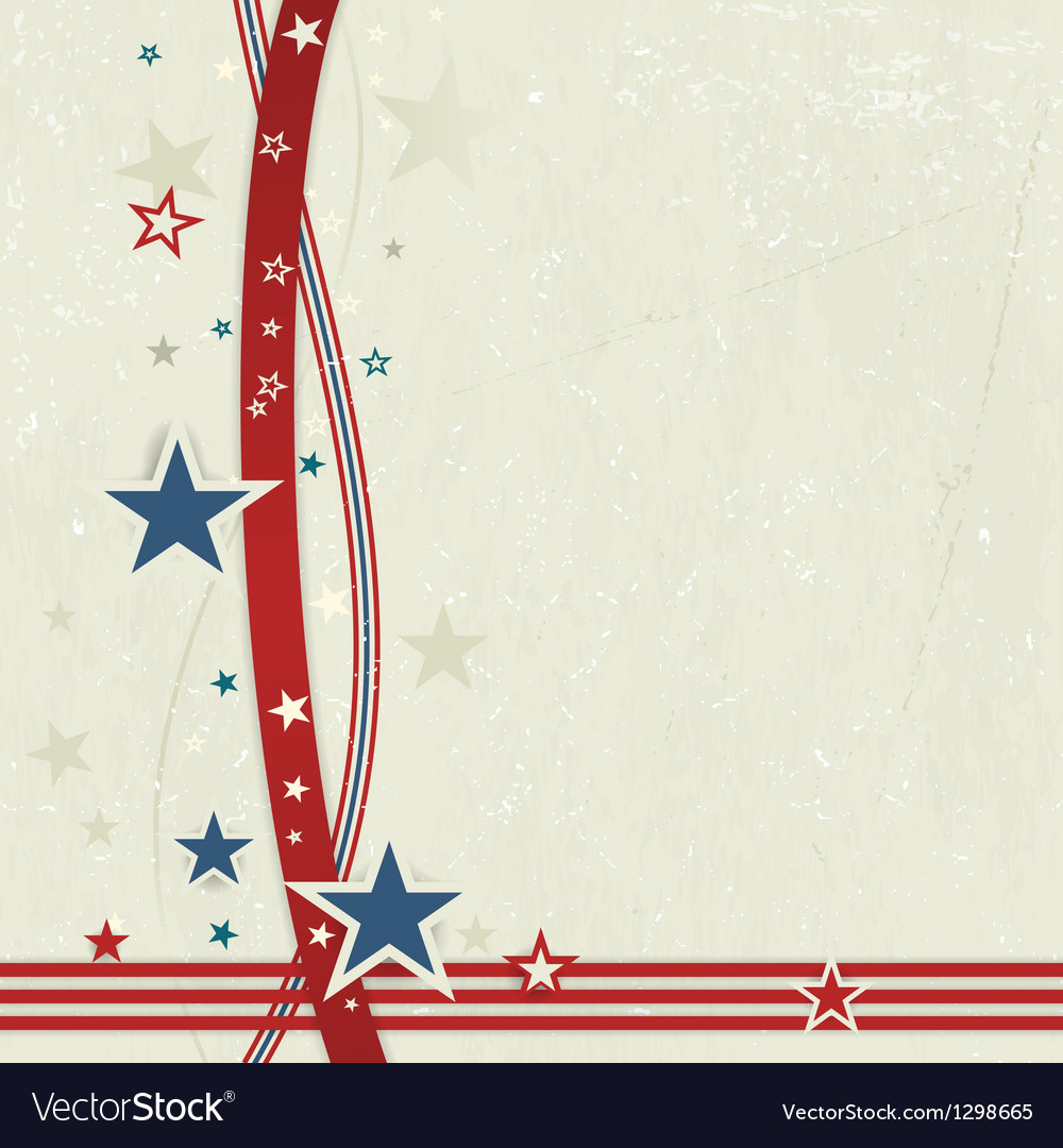 USA patriotic background in red blue and off whit vector image