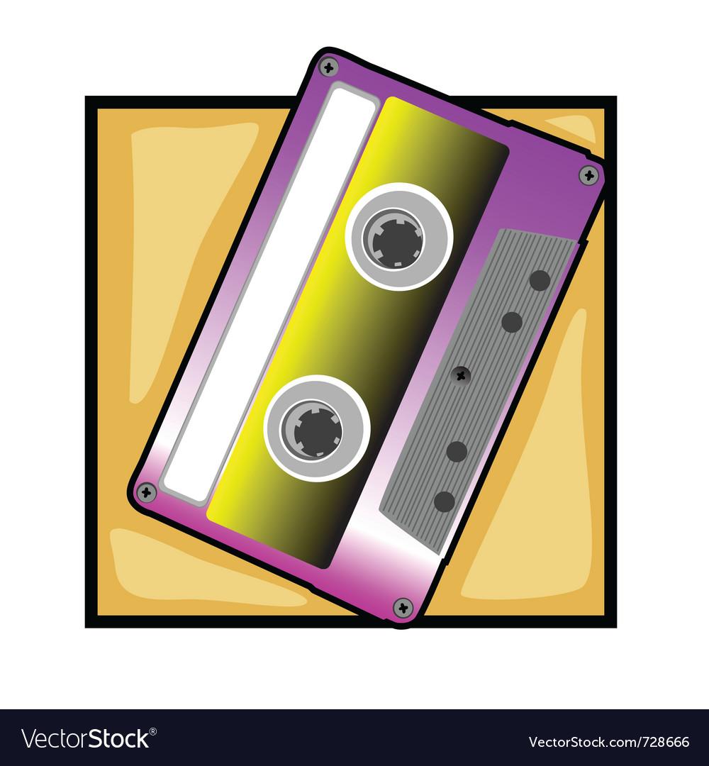 Retro tape clip art vector image