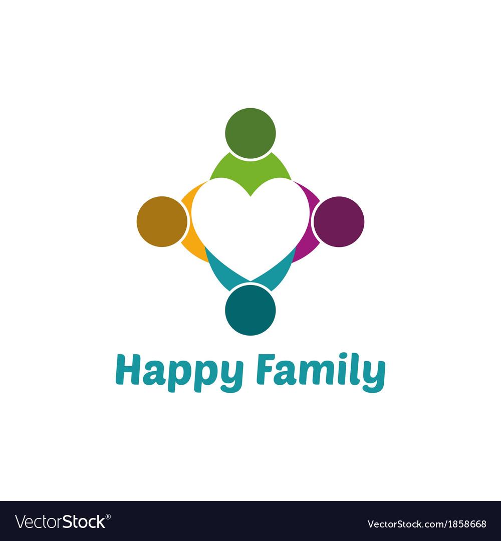 Family heart vector image